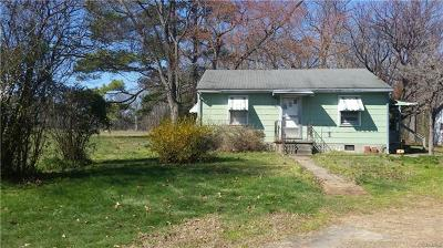 Chesterfield VA Single Family Home For Sale: $82,000