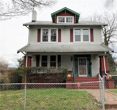 Richmond Single Family Home For Sale: 3316 Barton Avenue