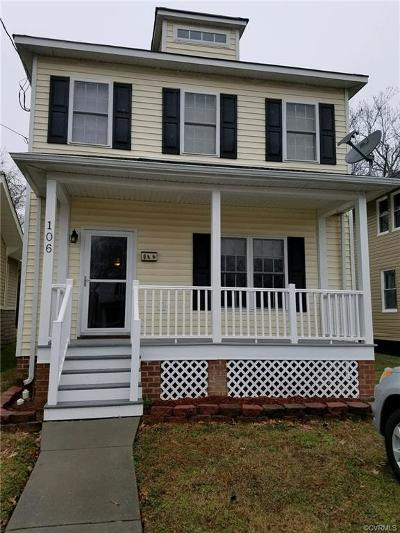 Colonial Heights Single Family Home For Sale: 106 Lafayette Avenue