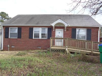 Richmond VA Single Family Home Sold: $110,000