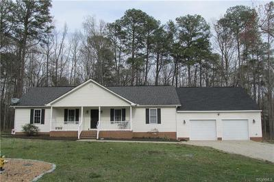 Dinwiddie County Single Family Home For Sale: 5719 Whisper Drive