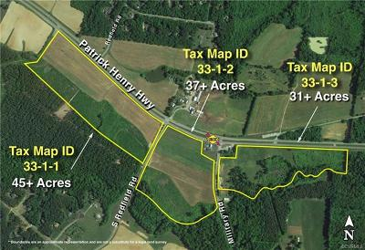 Amelia County Residential Lots & Land For Sale: Patrick Henry Highway