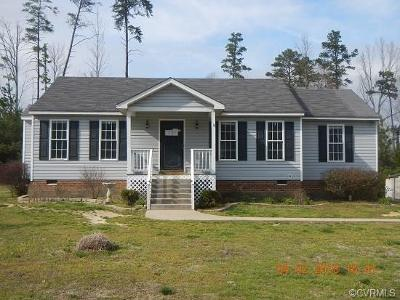 Amelia County Single Family Home For Sale: 24480 Johnson Road