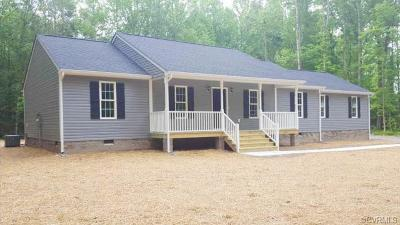 Aylett Single Family Home For Sale: Lot 16 West Liberty Farms Drive