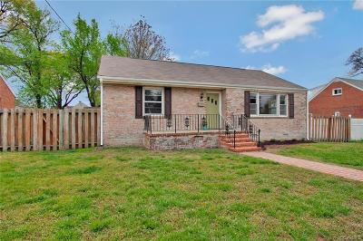 Colonial Heights VA Single Family Home For Sale: $174,900
