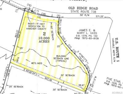 Hanover County Residential Lots & Land For Sale: 11127 Old Ridge Road
