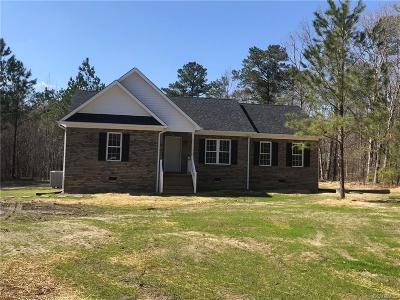 Petersburg Single Family Home For Sale: 22210 Butterwood Road