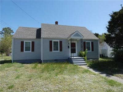 Petersburg Single Family Home For Sale: 1837 Oakland Street
