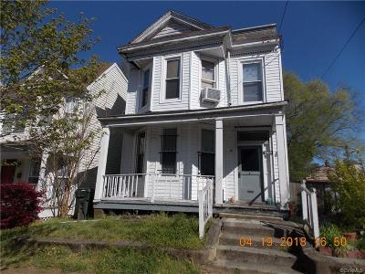 Richmond Rental For Rent: 1205 North 23rd Street #A