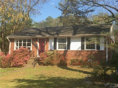 Henrico Single Family Home For Sale: 3901 Redstone Drive