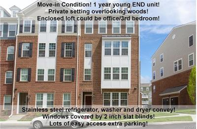 Richmond Condo/Townhouse For Sale: 4221 Saunders Tavern Trail #A
