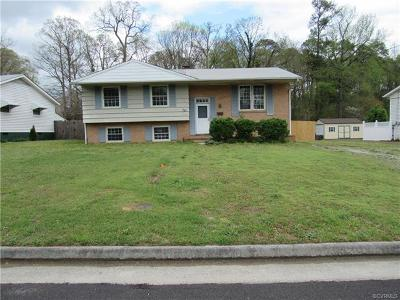 Colonial Heights VA Single Family Home For Sale: $85,000