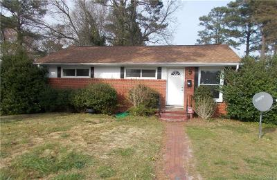 Petersburg Single Family Home For Sale: 2135 Fort Rice Street
