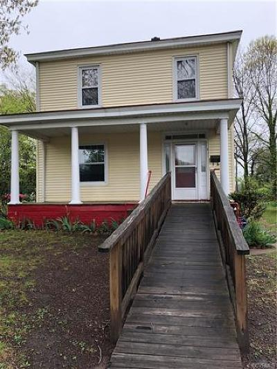Crewe Single Family Home For Sale: 411 East Maryland Ave