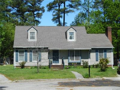 Colonial Heights VA Single Family Home For Sale: $189,000
