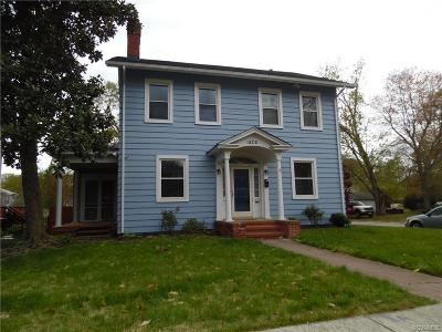 Petersburg VA Single Family Home For Sale: $118,000