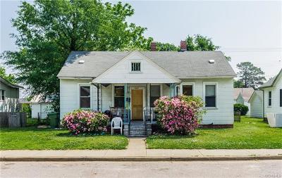 Hopewell VA Single Family Home For Sale: $85,000