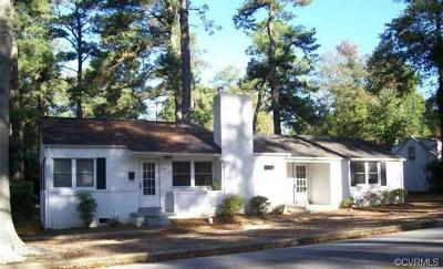 Petersburg VA Single Family Home For Sale: $118,950