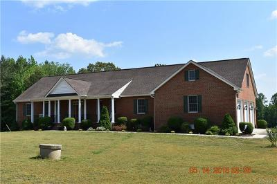 Nottoway County Single Family Home For Sale: 1490 Robertsons Road