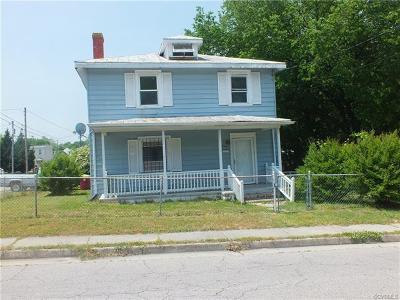 Petersburg Single Family Home For Sale: 544 Jefferson Street