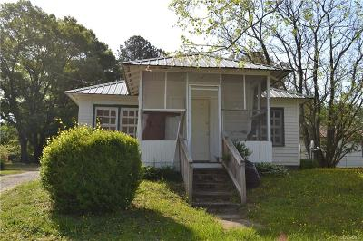 Dinwiddie Single Family Home For Sale: 21017 Boydton Plank Road