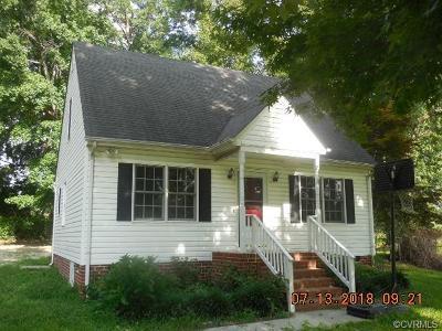 Hopewell VA Single Family Home For Sale: $134,900