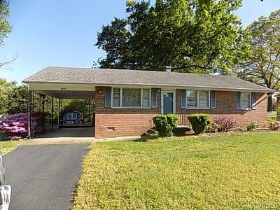 Chesterfield VA Single Family Home For Sale: $122,500