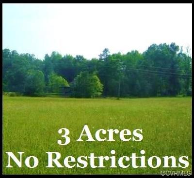 Amelia County Residential Lots & Land For Sale: 3 Acres Dykeland Road