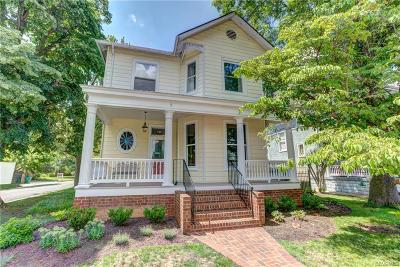 Richmond Single Family Home For Sale: 822 Blanton Avenue