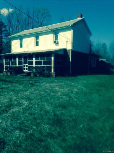 Dinwiddie County Single Family Home For Sale: 14814 Namozine Road