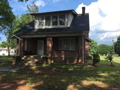 Petersburg Single Family Home For Sale: 943 South Crater Road
