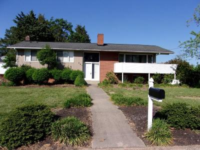 Colonial Heights VA Single Family Home For Sale: $184,900