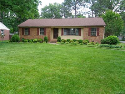 Henrico Single Family Home For Sale: 9100 Derbyshire Road