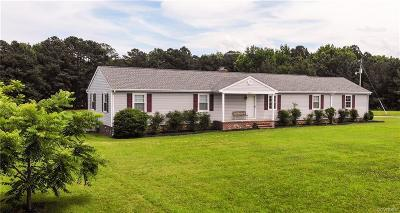 Dinwiddie County Single Family Home For Sale: 6309 Trinity Church Road