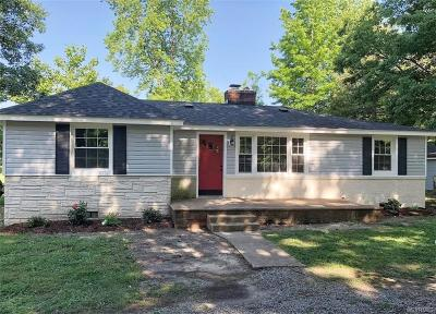 Chesterfield County Single Family Home For Sale: 7800 Belmont Road