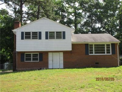 Colonial Heights VA Single Family Home For Sale: $120,000