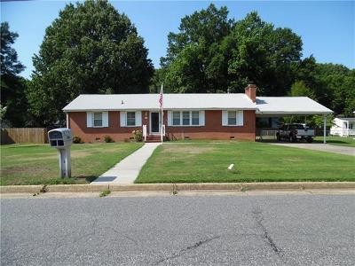 Colonial Heights VA Single Family Home For Sale: $184,000