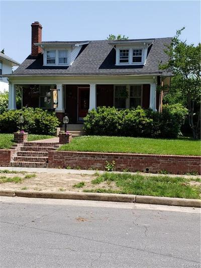 Richmond Single Family Home For Sale: 3863 Fauquier Avenue