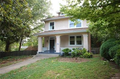 Richmond Single Family Home For Sale: 913 West 30th Street