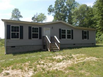 King William VA Single Family Home For Sale: $81,000