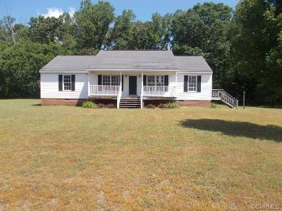 Aylett VA Single Family Home For Sale: $135,000
