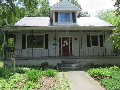 Colonial Heights VA Single Family Home For Sale: $82,155