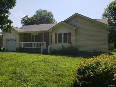 Dinwiddie County Single Family Home For Sale: 23809 Old Cox Road