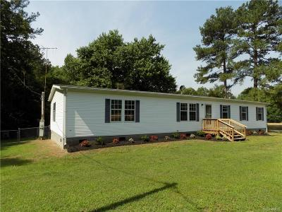 Dinwiddie County Single Family Home For Sale: 27606 Perkins Road