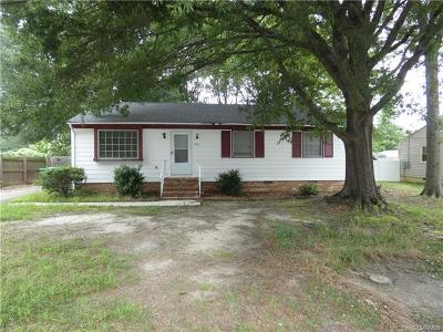 Petersburg Single Family Home For Sale: 2610 Homestead Drive