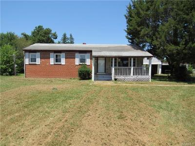 Amelia County Single Family Home For Sale: 14530 Lodore Road