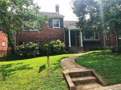 Richmond Single Family Home For Sale: 4613 Stuart Avenue