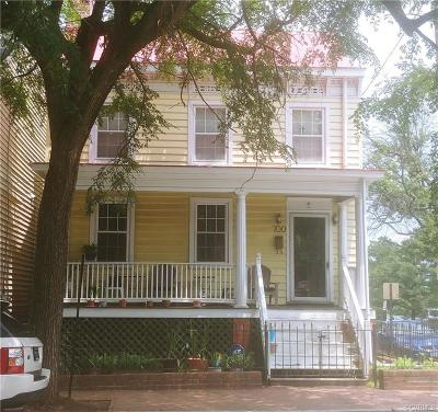 Richmond Single Family Home For Sale: 700 West Clay Street