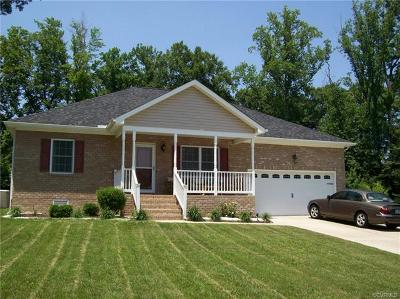 Prince George VA Single Family Home Pending: $196,500