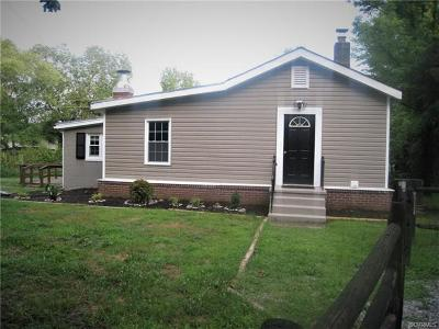 Powhatan Single Family Home For Sale: 710 Clayville Rd